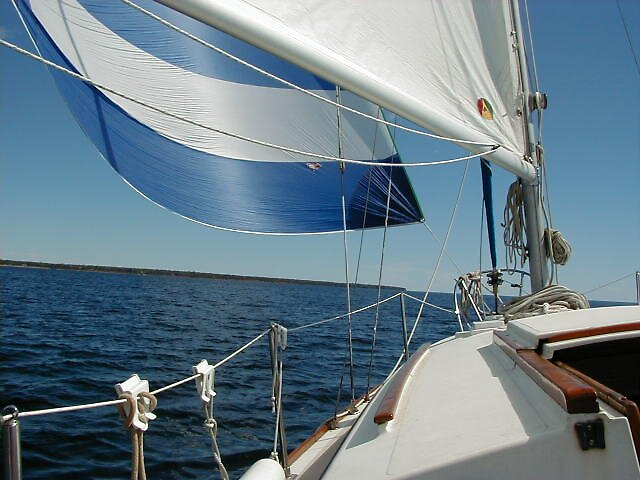 SAILING DOWNWIND by cap10mike