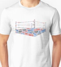 Wrestling Ring Word Cloud T-Shirt