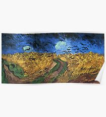 Wheatfield With Crows -Vincent van Gogh Poster