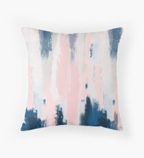 Abstract blush and blue Throw Pillow