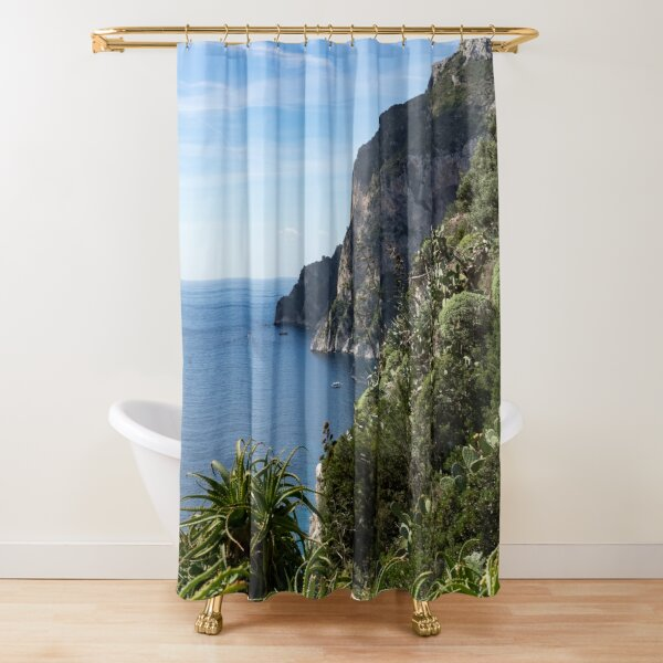 Hot Seaside Afternoon - Mediterranean Magic of Capri  Shower Curtain