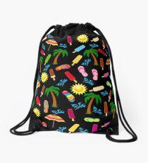 Beach Pattern Drawstring Bag