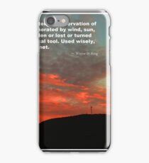 Tenney Windfarm Sunset Poster iPhone Case/Skin