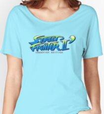 Street Fighter II Champion Edition - Title Screen Women's Relaxed Fit T-Shirt
