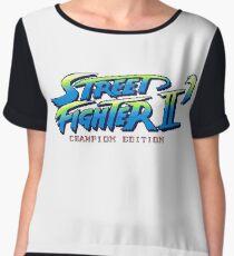 Street Fighter II Champion Edition - Title Screen Women's Chiffon Top