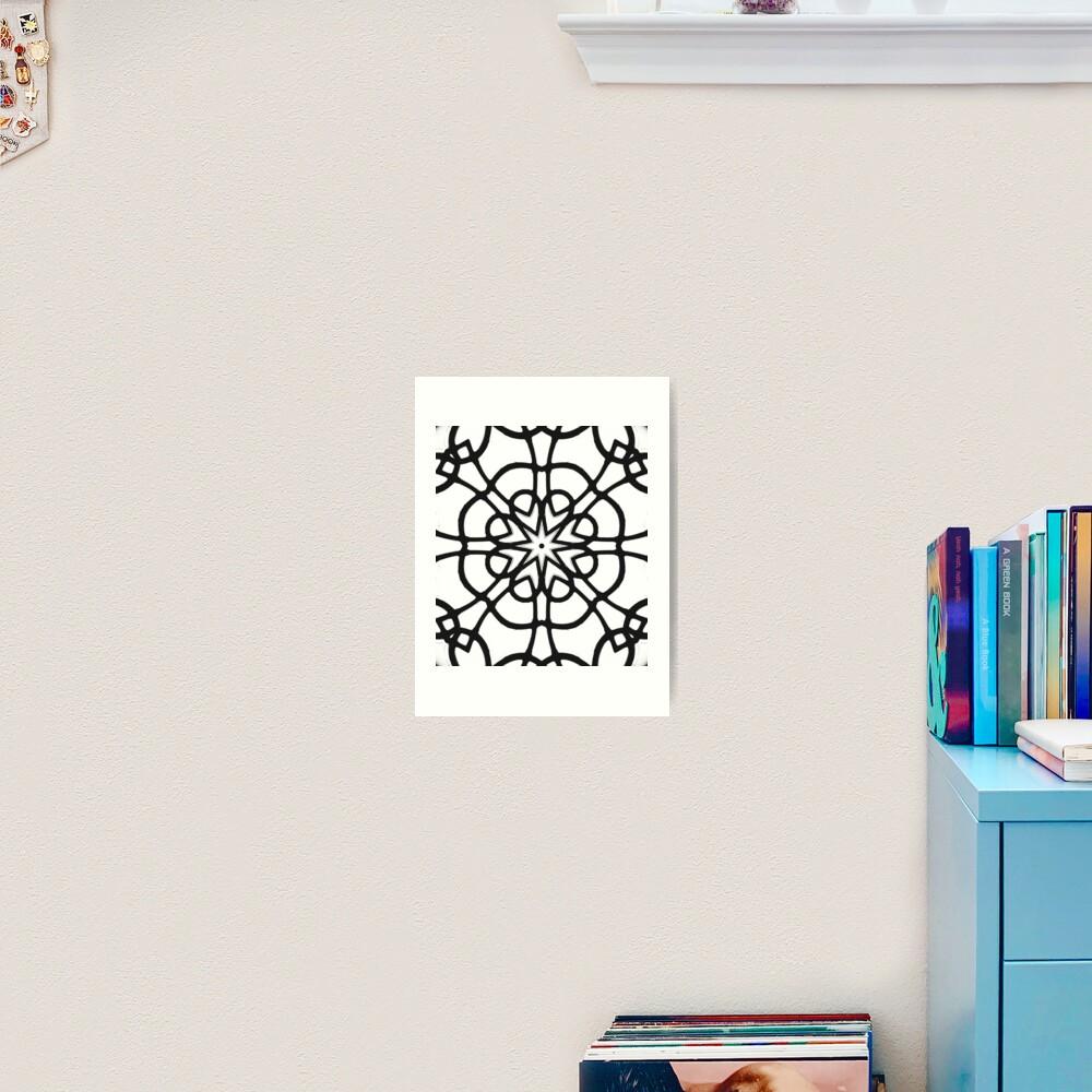 Monochrome One - Black and White Mandala Art Art Print