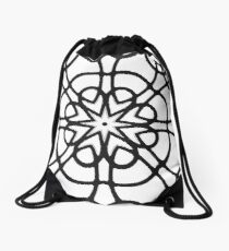 Monochrome One Drawstring Bag