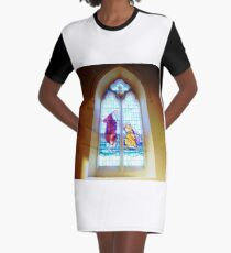 Stained Glass Window - Holy Trinity Anglican church, Williamstown, Vic. Australia Graphic T-Shirt Dress