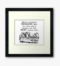 You're entirely bonkers Framed Print