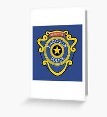 RACCOON POLICE - DETECTIVE BADGE (V1) Greeting Card