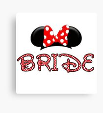 Mouse Bride Canvas Print