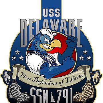 USS Delaware (SSN-791) Crest by Spacestuffplus