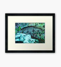 Lady Loves a Landscape - Drypoint etching Framed Print