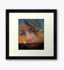 Skyler at Sunset Framed Print