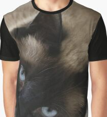 Siamese Expression Graphic T-Shirt