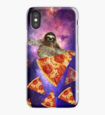 Sloth Galaxy Hungry for a Ride Space Travel on Pizza  iPhone Case/Skin
