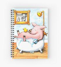Happy Pig Spiral Notebook