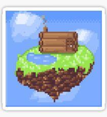 Flying Island- Pixel art Sticker