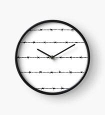 BARBED WIRE  Clock