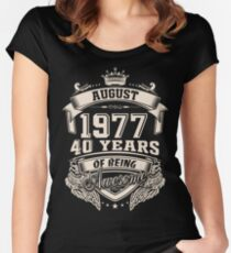 Born in August 1977 Women's Fitted Scoop T-Shirt