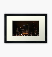 Central Business District Night Scene in Singapore Framed Print