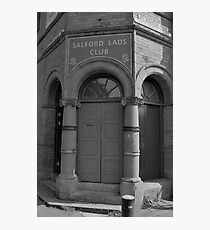 The Smiths, Morrissey, Salford Lads Club, Iconic Photo! Photographic Print