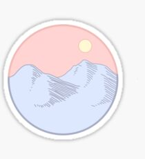 Pink landscape Sticker