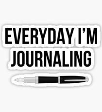 Pegatina Todos los días estoy escribiendo #humor