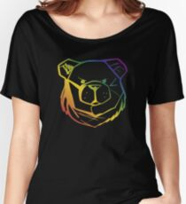 ROBUST BEAR FACE RAINBOW 03 Women's Relaxed Fit T-Shirt
