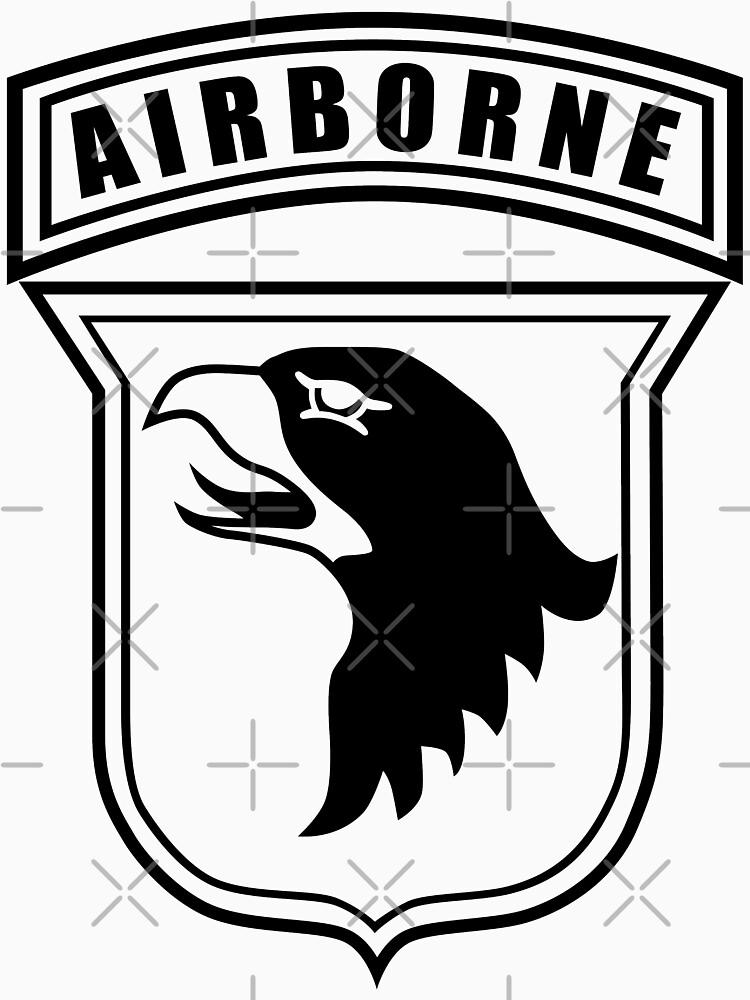 101st airborne stencil unisex t shirt by jcmeyer redbubble 101st Airborne Division Soldier 101st airborne stencil by jcmeyer