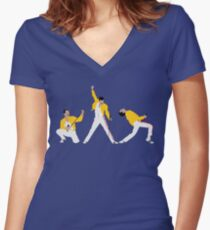 Freddie x 3 Women's Fitted V-Neck T-Shirt