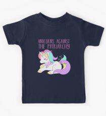 Einhörner gegen das Patriarchat Kinder T-Shirt
