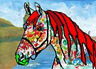 Paint Horse In Color by Juhan Rodrik