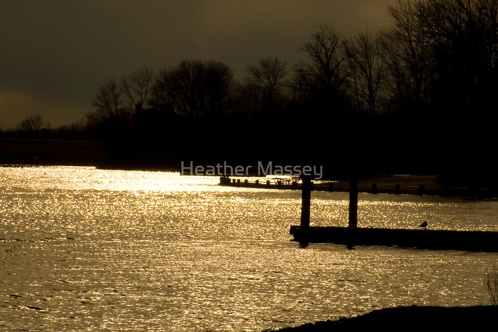 Sunset Lake by Heather Massey