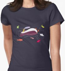 Illustration Fleet Penguin Women's Fitted T-Shirt