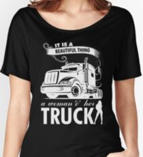 TRUCKER' WIFE SHIRT A Beautiful Thing A Woman and Her Truck Women's Relaxed Fit T-Shirt