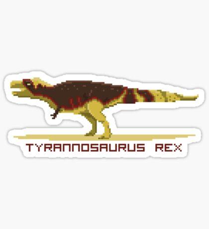 Pixel Tyrannosaurus Sticker