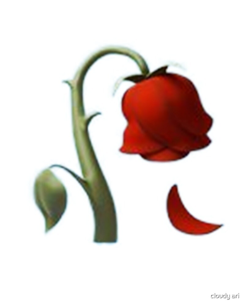Quot Rose Emoji Quot By Iziukas Redbubble