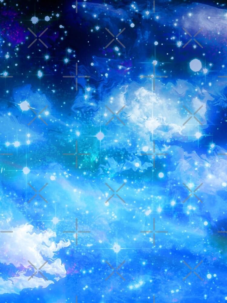 Blue Cloudy Night Sky by SaradaBoru