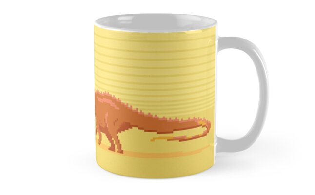 Pixel Amargasaurus by David Orr