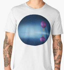 fly over the sea Men's Premium T-Shirt