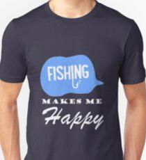Fishing Happy Unisex T-Shirt