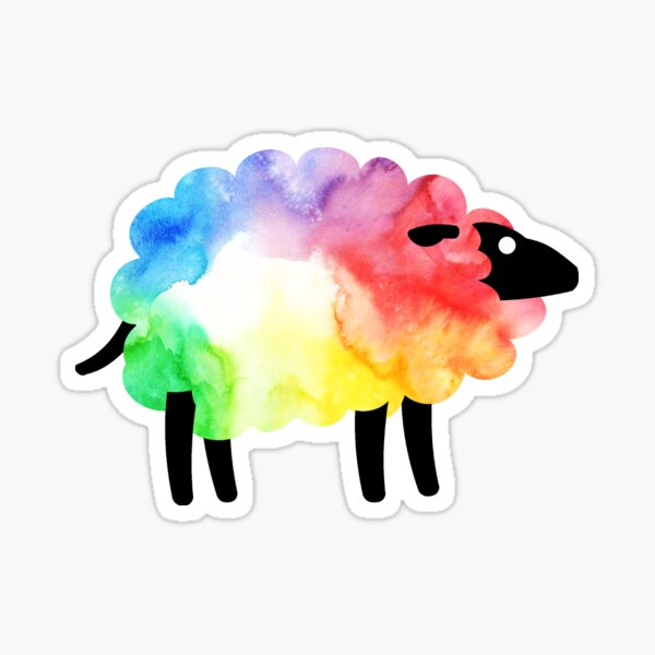 Rainbow Sheep Sticker