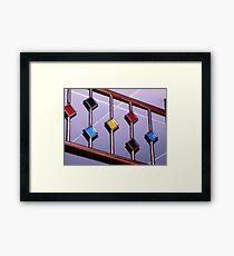Colorful Deco Framed Print