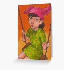 The Girl Who Wanted To Be God Greeting Card