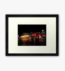 Singapore Central Business District Night Scene Framed Print