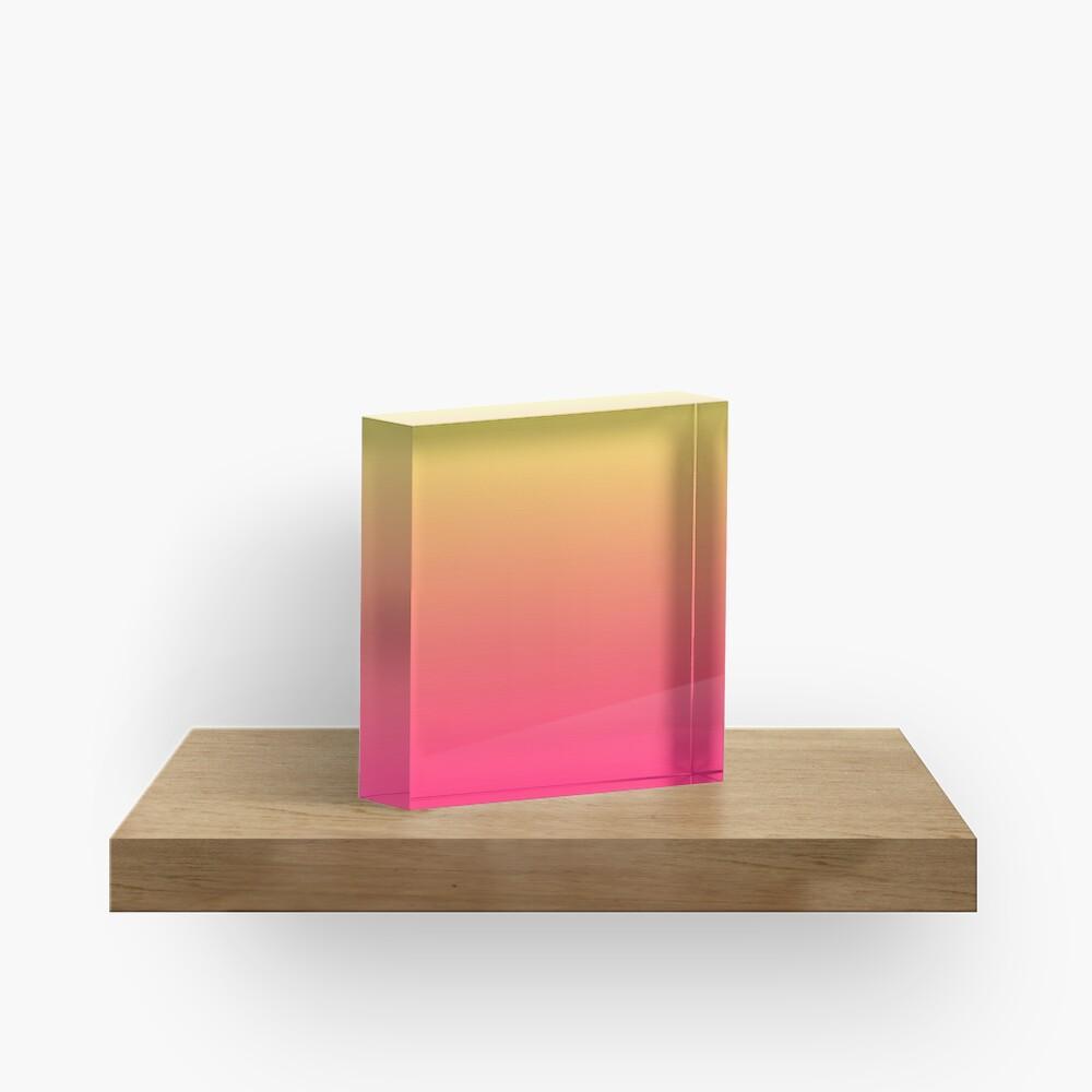 modern chic girly hot pink orange fuschia ombre Acrylic Block