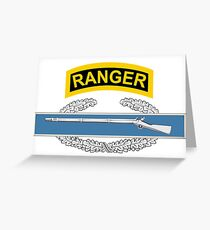 Combat Infantry Badge (CIB) Ranger Greeting Card