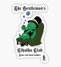 Gentleman's Cthulhu Club - Relax with Bubbles Sticker