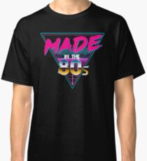 Made in The 80s - Born in Eighties retro Neon Grid Classic T-Shirt